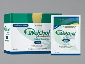 WelChol 3.75 gram oral powder packet