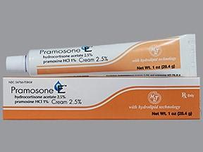 Pramosone E 2.5 %-1 % topical cream