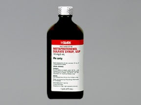 metaproterenol 10 mg/5 mL oral syrup