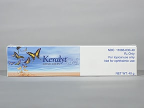 Keralyt Rx 6 % topical gel