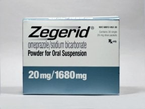 Zegerid 20 mg-1,680 mg oral packet