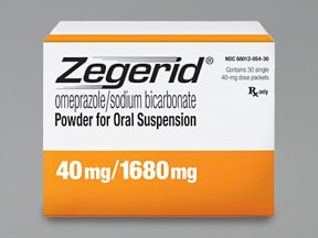 Zegerid 40 mg-1,680 mg oral packet