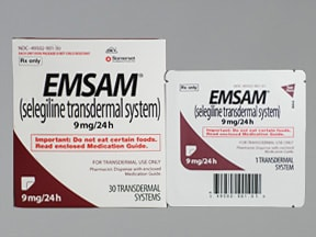 Emsam 9 mg/24 hr transdermal 24 hour patch
