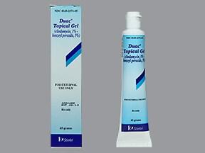 Duac 1.2 % (1 % base)-5 % topical gel