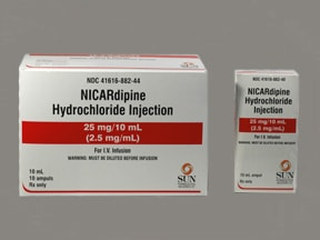 nicardipine 25 mg/10 mL intravenous solution