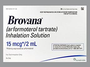 Brovana 15 mcg/2 mL solution for nebulization
