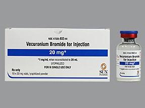 vecuronium bromide 20 mg intravenous solution