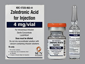 zoledronic acid 4 mg intravenous solution
