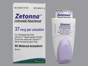 Zetonna 37 mcg/actuation nasal HFA inhaler