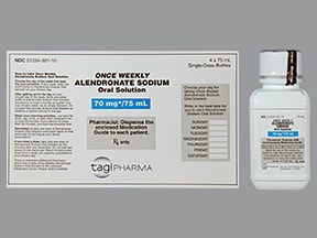 alendronate 70 mg/75 mL oral solution