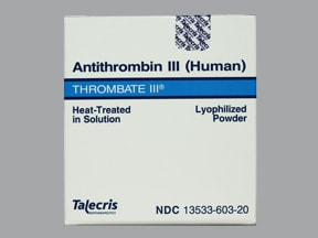 Thrombate III Intravenous : Uses, Side Effects