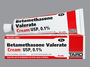 betamethasone valerate 0.1 % topical cream