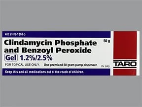 clindamycin 1.2 %-benzoyl peroxide 2.5 % topical gel with pump