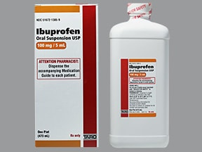 ibuprofen 100 mg/5 mL oral suspension