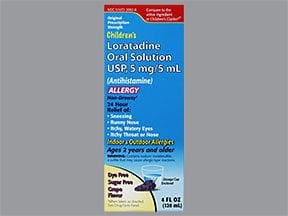 loratadine 5 mg/5 mL oral solution