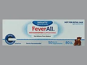 Feverall 80 mg rectal suppository