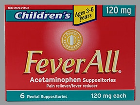 Feverall 120 mg rectal suppository