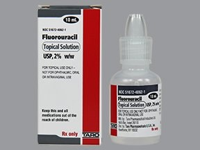 fluorouracil 2 % topical solution