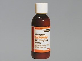 phenytoin 125 mg/5 mL oral suspension