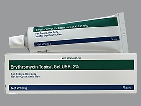 erythromycin with ethanol 2 % topical gel