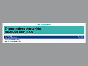 triamcinolone acetonide 0.5 % topical ointment