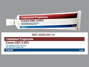 clobetasol 0.05 % topical cream