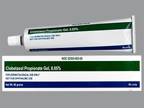 clobetasol 0.05 % topical gel