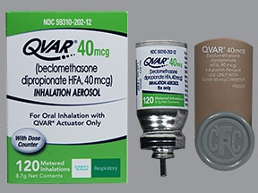 Qvar 40 mcg/actuation Metered Aerosol oral inhaler