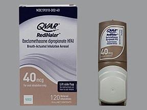 Qvar RediHaler 40 mcg/actuation HFA breath activated aerosol