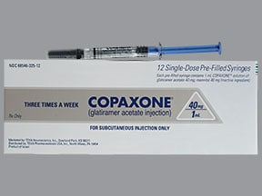 Copaxone 40 mg/mL subcutaneous syringe