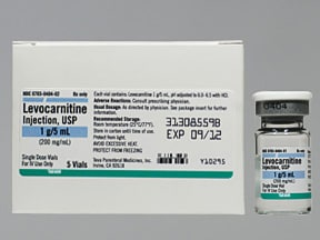 levocarnitine 200 mg/mL intravenous solution