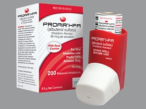 ProAir HFA 90 mcg/actuation aerosol inhaler