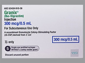 Granix 300 mcg/0.5 mL subcutaneous syringe