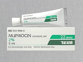 If there are injuries Mupirocin