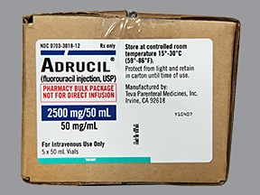 Adrucil 2.5 gram/50 mL intravenous solution