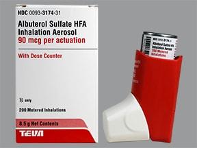 albuterol sulfate HFA 90 mcg/actuation aerosol inhaler