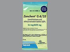 Zenchent (28) 0.4 mg-35 mcg tablet