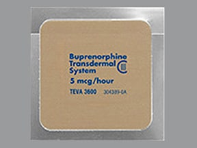 buprenorphine 5 mcg/hour weekly transdermal patch