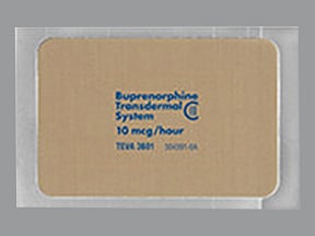 buprenorphine 10 mcg/hour weekly transdermal patch
