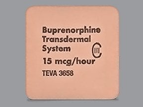 buprenorphine 15 mcg/hour weekly transdermal patch