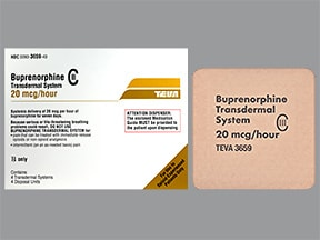 buprenorphine 20 mcg/hour weekly transdermal patch