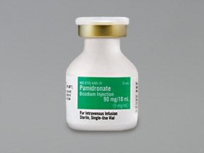 pamidronate 90 mg/10 mL (9 mg/mL) intravenous solution