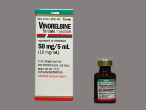 vinorelbine 50 mg/5 mL intravenous solution