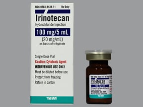 irinotecan 100 mg/5 mL intravenous solution