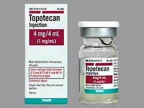 topotecan 4 mg/4 mL (1 mg/mL) intravenous solution