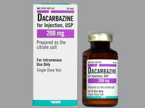 dacarbazine 200 mg intravenous solution