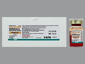 daunorubicin 5 mg/mL intravenous solution