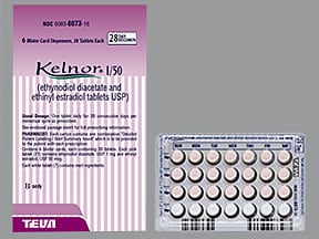 Kelnor 1-50 1 mg-50 mcg tablet