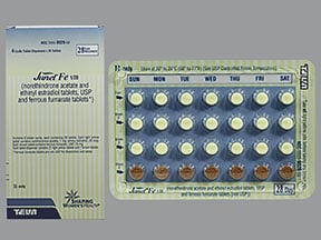 Junel FE 1/20 (28) 1 mg-20 mcg (21)/75 mg (7) tablet