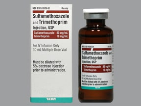 sulfamethoxazole 400 mg-trimethoprim 80 mg/5 mL intravenous solution